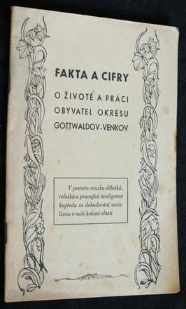 náhled knihy - Fakta a cifry o životě a práci obyvatel okresu Gottwaldov-venkov