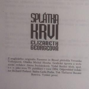 antikvární kniha Splátka krví, 1994