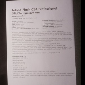 antikvární kniha Adobe Flash CS4 Professional. Oficiální výukový kurz, 2009