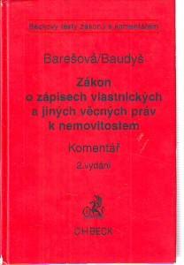 náhled knihy - Zákon o zápisech vlastnických a jiných věcných práv k nemovitostem