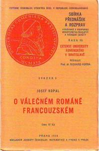 náhled knihy - O válečném románě francouzském