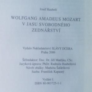 antikvární kniha Wolfgang Amadeus Mozart v jasu svobodného zednářství, 2006