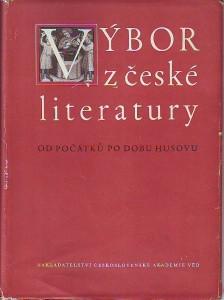 náhled knihy - Výbor z české literatury od počátků po dobu Husovu