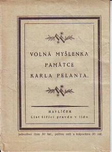náhled knihy - Volná myšlenka památce Karla Pelanta