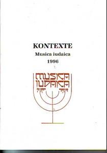 náhled knihy - Kontexte. Musica iudaica 1996. Bericht über die internationale Konferenz Praha 30. - 31. 10. 1996.