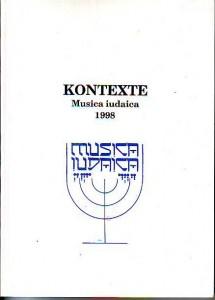 náhled knihy - Kontexte. Musica iudaica 1998.