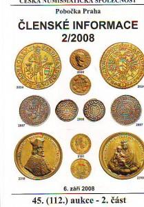 náhled knihy - Česká numismatická společnost. Členské informace 2/2008 I.-II.