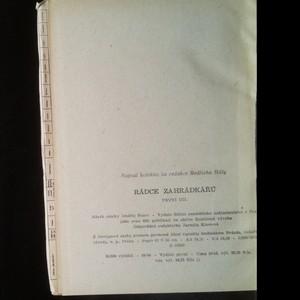 antikvární kniha Rádce zahrádkářů. 1. a 2. díl (2 svazky + letáček), neuveden