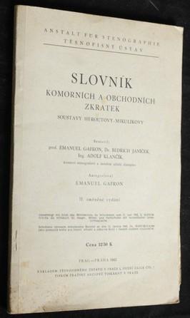 náhled knihy - Slovník komorních a obchodních zkratek soustavy Heroutovy-Mikulíkovy