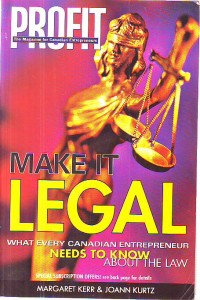 náhled knihy - Make It Legal. What Every Canadian Entrepreneur Needs to Know About the Law.