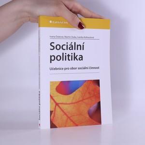 náhled knihy - Sociální politika : učebnice pro obor sociální činnost