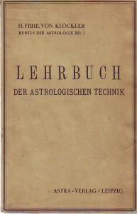 náhled knihy - Lehrbuch der astrologischen technik. Band 1.