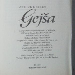 antikvární kniha Gejša, 1999