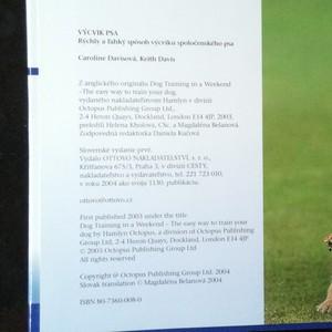 antikvární kniha Výcvik psa : ako rýchlo a ľahko vychovať spoločenského psa, 2004