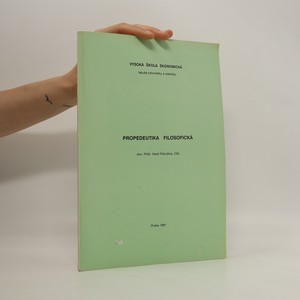 náhled knihy - Propedeutika filosofická