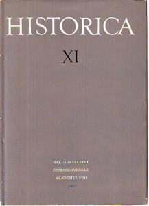 náhled knihy - Historica XI. Les sciences historiques en Tchécoslovaquie : Historical sciences in Czechoslovakia : Historische Wissenschaften in der Tschechoslowakei.