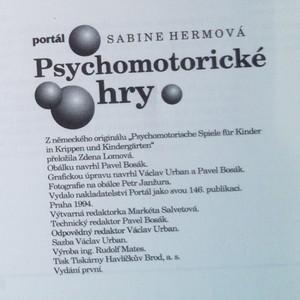 antikvární kniha Psychomotorické hry, 1994