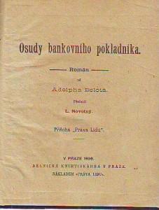náhled knihy - Osudy bankovního pokladníka