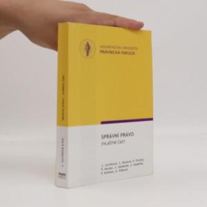 náhled knihy - Správní právo. Zvláštní část
