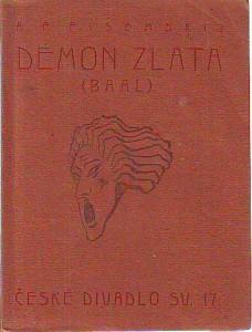 náhled knihy - Démon zlata (Baal). České divadlo sv. 17