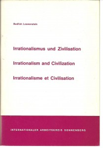 náhled knihy - Irrationalismus und Zivilisation. Irrationalism and Civilization. Irrationalisme et Civilisation