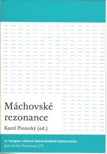 náhled knihy - Máchovské rezonance. IV. kongres světové literárněvědné bohemistiky
