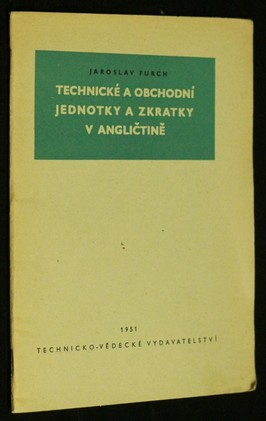 náhled knihy - Technické a obchodní jednotky a zkratky v angličtině