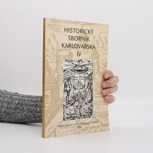 náhled knihy - Historický sborník Karlovarska IV.
