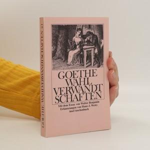 náhled knihy - Die wahlverwandtschaften