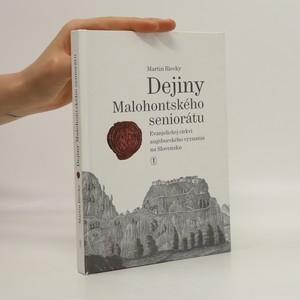 náhled knihy - Dejiny Malohontského seniorátu evanjelickej cirkvi augsburského vyznania na Slovensku