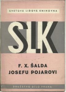 náhled knihy - F. X. Šalda Josefu Pojarovi