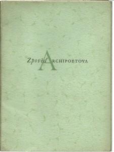 náhled knihy - Zpověď Archipoetova