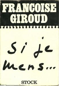 náhled knihy - Si je mens... Conversations avec Claude Glayman