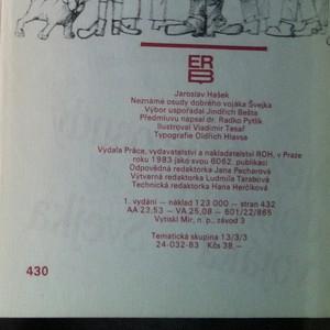 antikvární kniha Neznámé osudy dobrého vojáka Švejka, 1983
