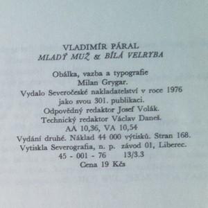 antikvární kniha Mladý muž a bílá velryba, 1976