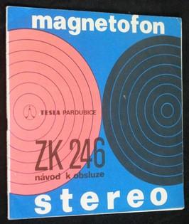 náhled knihy - Magnetofon, stereo: ZK 246 návod k obsluze