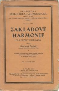 Základové harmonie pro ústavy učitelské