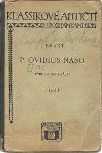 náhled knihy - P. Ovidius Naso. Výbor z jeho básní