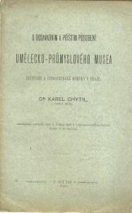 náhled knihy - O dosavadním a příštím působení Umělecko-průmyslového musea obchodní a živnostenské komory v Praze