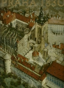 Praha 1830. Model Antonína Langweila