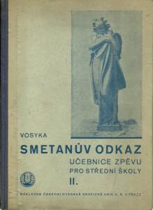 náhled knihy - Smetanův odkaz. Díl druhý. Hudební výchova. učebnice zpěvu pro střední školy