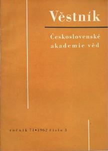 náhled knihy - Věstník Československé akademie věd. Ročník 71 číslo 3
