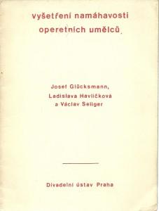 náhled knihy - Vyšetření namáhavosti operetních umělců