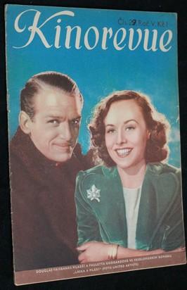 náhled knihy - Kinorevue č. 29 roč. V. na obálce Douglas Fairbanks mladší a Pauletta Goddardová