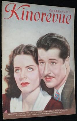 náhled knihy - Kinorevue č. 44 roč. V. na obálce Arleen Whelanová a Don Ameche