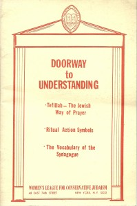 náhled knihy - Doorway to Understanding. Tefillah - The Jewish Way of Prayer. Ritual Action Symbols. The Vocabulary of the Synagogue