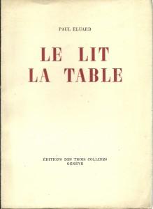 náhled knihy - Le lit la table