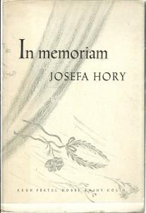 In memoriam Josefa Hory