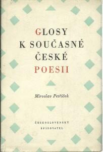 náhled knihy - Glosy k současné české poesii