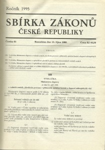 náhled knihy - Sbírka zákonů České republiky 4. Ročník  1995